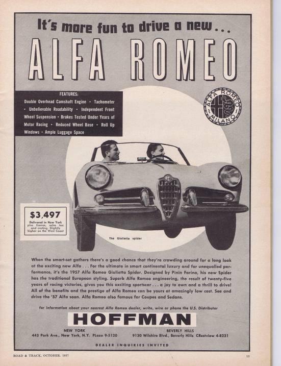 Road & Track Alfa Romeo Ad