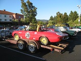 Parking lot of the hotel, National Alfa Romeo Convention2013